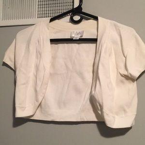 Loft Slightly Off White Crop Cardigan. Size M